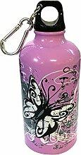 Kinder Trinkflasche aus Edelstahl 500ml - Limited Edition | die Geschenkidee zum Schulanfang (lila)