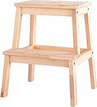Kinder-Trittleiter Holz-Vierkant Leiter-Hocker