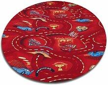 Kinder und Spielteppich Disney Cars Rot 160 cm Ø