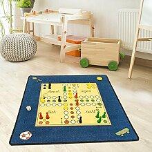Kinder- und Spielteppich Kinderzimmer Mensch Ärgere Dich Nicht 92x92cm, Größe in cm:92 cm x 92 cm