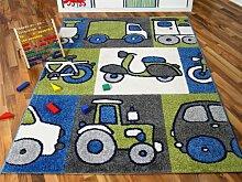 Kinder und Spielteppich Softstar Motors Blau in 3 Größen