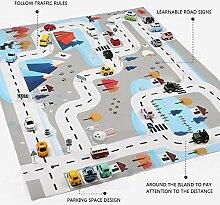 Kinder Verkehr Karte Game Pad, Spielmatte Auto
