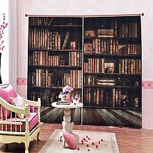 Kinder Vorhänge Gardinen Bücherregal