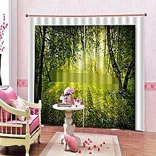 Kinder Vorhänge Gardinen Waldlandschaft