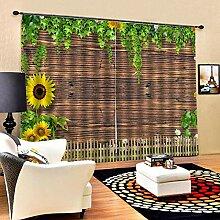 Kinder Vorhänge Gardinen Wandpflanze