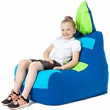 Kinder Wasserfest Hase Floppy Ohren Sitzsack Sessel Für drinnen und Außen, in 2 Farben erhältlich - Blau