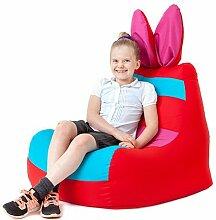 Kinder Wasserfest Hase Floppy Ohren Sitzsack Sessel Für drinnen und Außen, in 2 Farben erhältlich - Ro