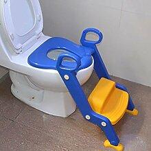Kinder-WC-Leiter Mit Justierbarer Kindertoilette Leiter-Höhe Jungen-Mädchen-Folgesitz-Toiletten-Training (Verwendbar Für 1-7 Jahre Alt)