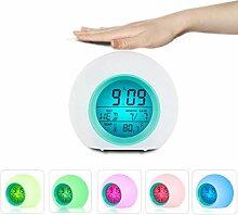 Kinder Wecker, Wake Up Light LED Digitaluhr für