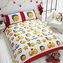 Kinder Weihnachts Emoji Design Bettwäsche