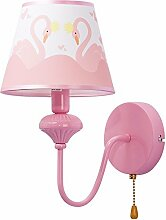 Kinder Zimmer Mädchen Schlafzimmer Bett Lampe Wand Lampe Rosa Schwan Prinzessin Auge Leselampe