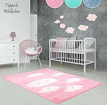Kinder-Zimmer-Teppich im bunten Wolken Design oder