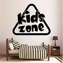 Kinder Zone Aufkleber Wasserdicht Vinyl Tapete