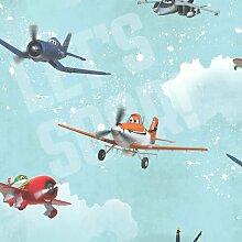 Kinder zu Hause Flugzeuge 10m x 53cm Matte Tapete