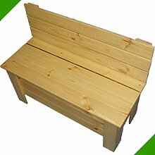 Kinderbank Holzbank Sitzbank Gartenbank Kiefer Massiv Bank aus Holz