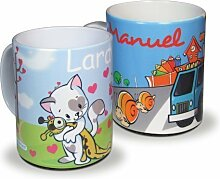 Kinderbecher Kunststoffbecher mit eigeem Namen und Wunschmotiv bruchsicher für Kleinkinder