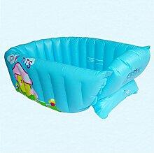 Kinderbecken Aufblasbare Baby-Badewanne PVC Hauspool (Farbe : Blau)
