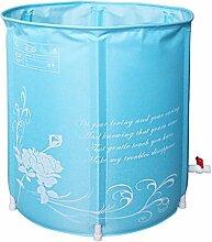 Kinderbecken Nylon Badewanne Stand Baby Spielplatz Erwachsene Badewanne, Pink / Blau, Größe: 70 * 70cm ( Color : Blue )