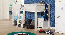 Kinderbett 4-in-1, 90x200 cm, weiß mit