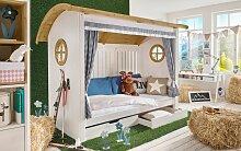 Kinderbett Alpengaudi, 90x200 cm, weiß mit