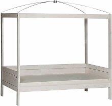 Kinderbett Amazonas, 90x200 cm, weiß mit