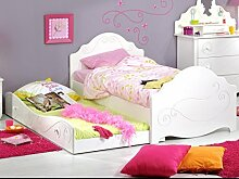 Kinderbett Anne 90x200 weiß lackiert Bett mit
