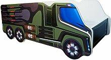 Kinderbett Autobett LKW Armee 140 x 70 cm
