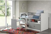 Kinderbett BONNY-12, mit rollbarem Schreibtisch,