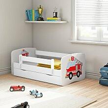 Kinderbett Cicero mit Matratze und Schublade