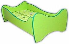 Kinderbett Curly inkl. Rollrost + Matratze 70*140 cm grün Jugendbett Bettliege Einzelbett Kinderzimmer Bett Kindermöbel grün