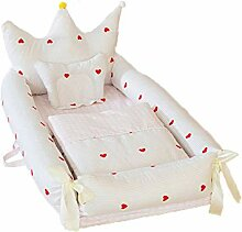 Kinderbett Cute Crown Design Tragbare Baby Snuggle