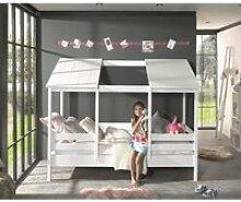 Kinderbett Hausbett ALEXANDRIA-12 mit 90 x 200 cm