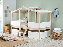 Kinderbett Hausbett mit Schubladen VASCO - 90 x