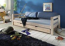 Kinderbett Kiefer massiv 90x200 cm Einzelbett