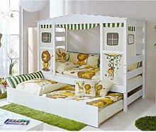 Kinderbett mit Ausziehbett Dschungel Design