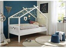 Kinderbett mit Dach im modernem Stil LUANA-78 aus