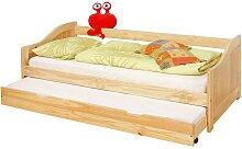 Kinderbett mit Gästebett Kiefer Massivholz