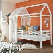 Kinderbett mit hohem Dach LUANA-78 aus Kiefer