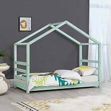 Kinderbett mit Lattenrost 70 x 140 cm Hausbett