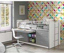Kinderbett mit Schreibtisch BONNY-12, 90x200cm,