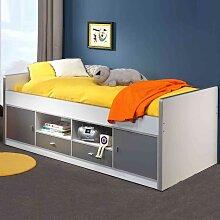 Kinderbett mit Schubladen Weiß