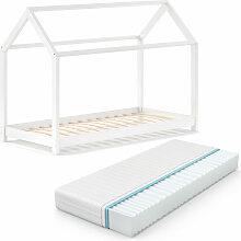Kinderbett WIKI 90x200 Weiß Schlafplatz Spielbett