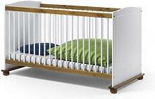 Kinderbettset 70x140 Kiefer massiv weiss Babybett+