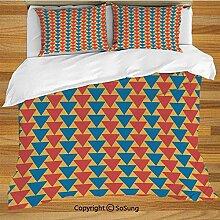 Kinderbettwäsche Bettwäscheset, Dreiecke nach