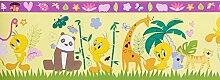 Kinderborte gelb Kinder Wonderland Rasch Textil 318523