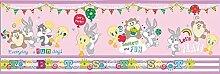 Kinderborte lila Kinder Wonderland Rasch Textil 318592