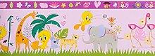 Kinderborte rosa Kinder Wonderland Rasch Textil 318547