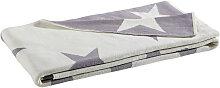 KINDERDECKE 130/180 cm Grau, Naturfarben