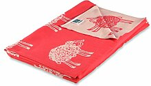Kinderdecke Sherman mit süßem Schäfchen Motiv | Öko-Tex zertifiziert | kuschelige Decke aus Baumwolle | Größe wählbar (100x120 cm) Baumwolldecke - Kuscheldecke