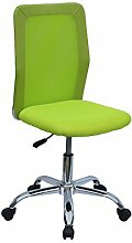Kinderdrehstuhl ESCOLA Schreibtischstuhl Bürostuhl Drehstuhl ohne Armlehnen in grün, höhenverstellbar